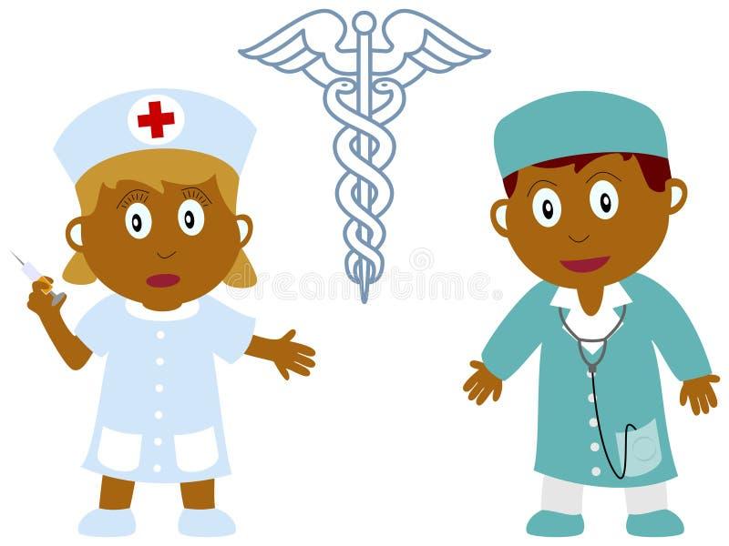 ιατρική 4 κατσικιών εργασιών ελεύθερη απεικόνιση δικαιώματος