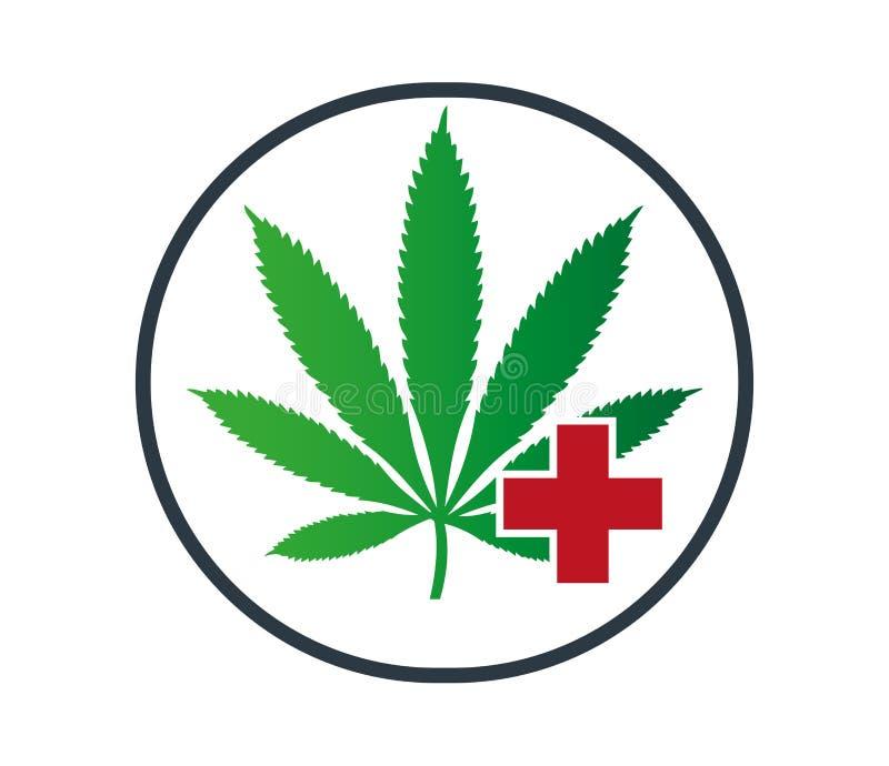 Ιατρική Canabis διανυσματική απεικόνιση