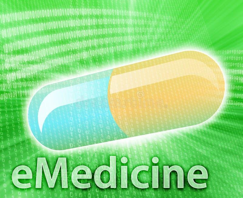 ιατρική on-line διανυσματική απεικόνιση