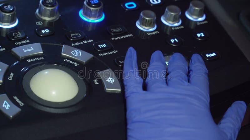 Ιατρικός εξοπλισμός, μηχανή υπερήχου στοκ εικόνες