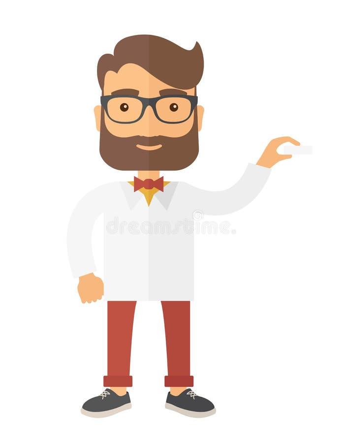 Ιατρικός επαγγελματικός όμορφος νέος γιατρός διανυσματική απεικόνιση