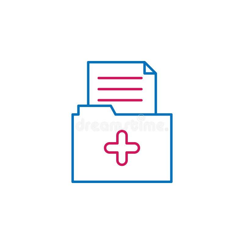 Ιατρικός, φάκελλος, χρωματισμένο ιατρική εικονίδιο Στοιχείο της απεικόνισης ιατρικής Το εικονίδιο σημαδιών και συμβόλων μπορεί να απεικόνιση αποθεμάτων