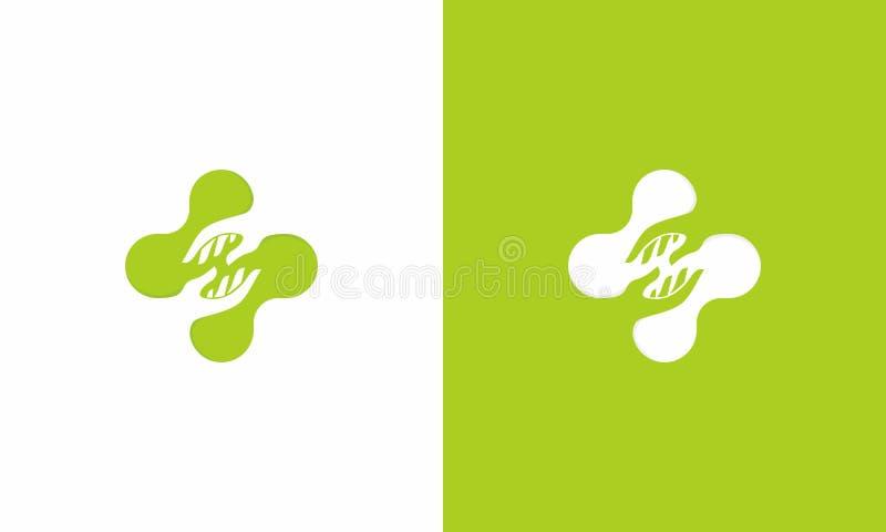 Ιατρικό διαγώνιο λογότυπο βοήθειας απεικόνιση αποθεμάτων