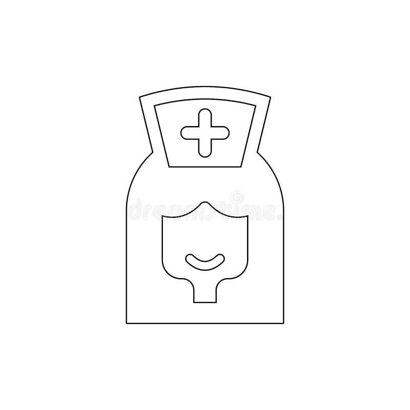 Ιατρικό εικονίδιο περιλήψεων γυναικών E ελεύθερη απεικόνιση δικαιώματος