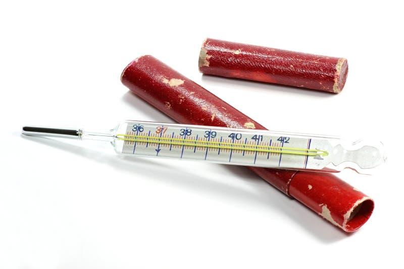 ιατρικό θερμόμετρο υδραργύρου στοκ φωτογραφίες