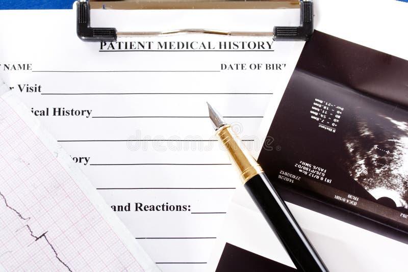 Ιατρικό ιστορικό στοκ εικόνες