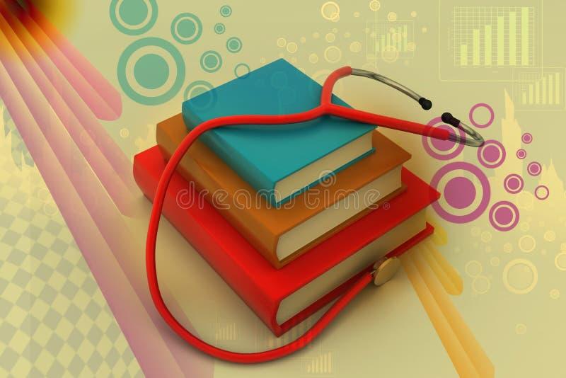 ιατρικό κείμενο βιβλίων διανυσματική απεικόνιση