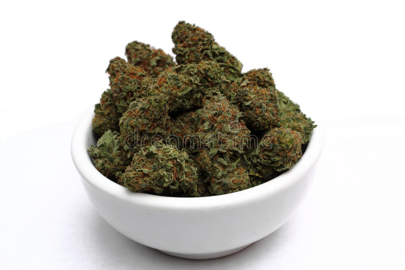 ιατρικό λευκό μαριχουάνα στοκ εικόνα