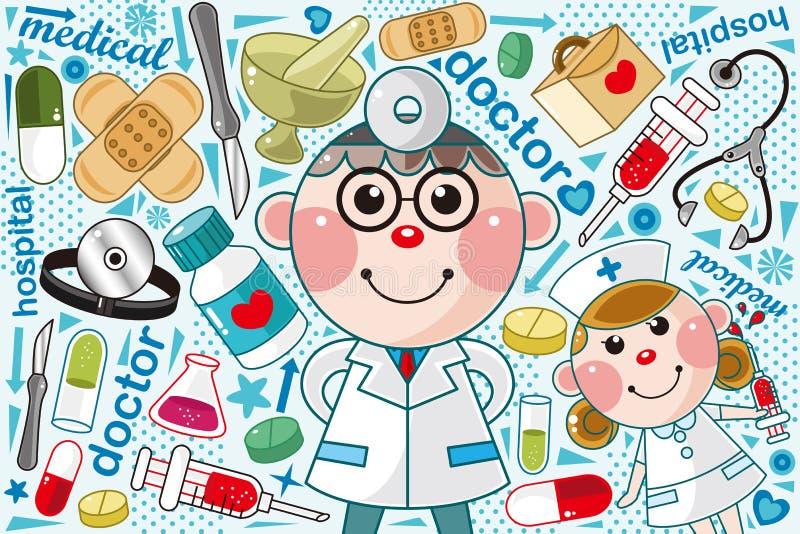 Ιατρικό πρότυπο γιατρών Στοκ Εικόνες