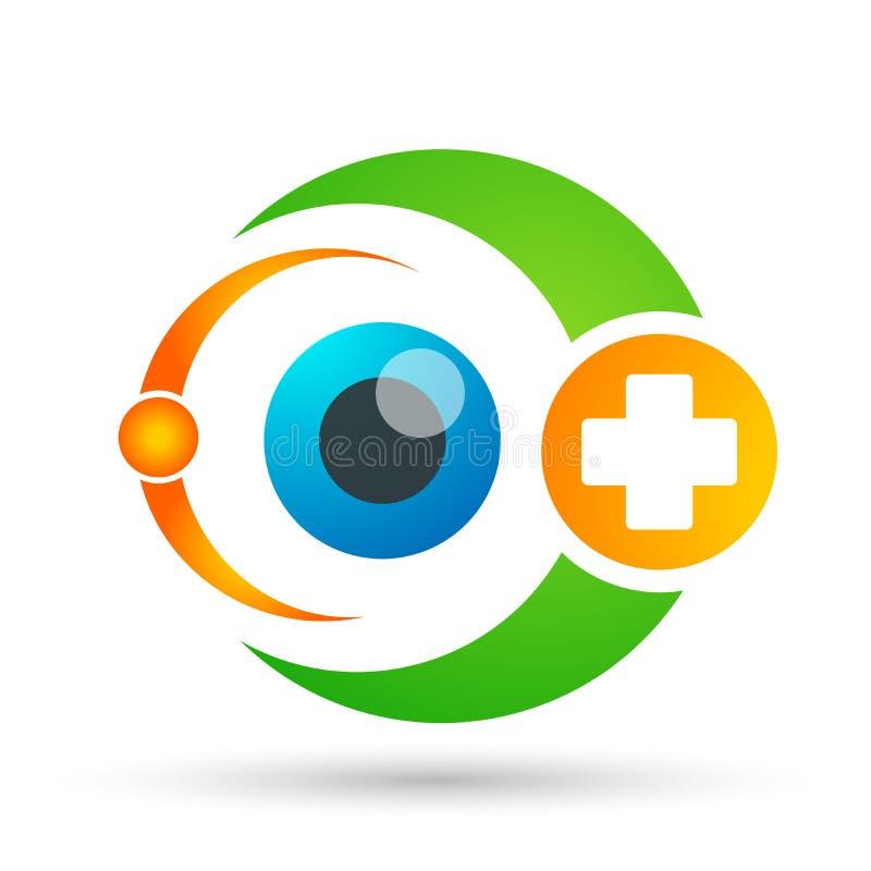 Ιατρικό σημάδι στοιχείων εικονιδίων λογότυπων έννοιας οικογενειακής  ελεύθερη απεικόνιση δικαιώματος