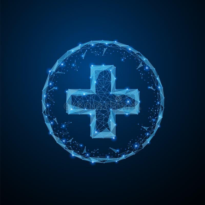 Ιατρικό σημάδι του σταυρού ελεύθερη απεικόνιση δικαιώματος