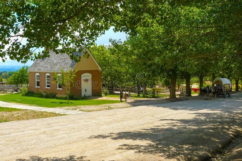 Ιατρικό σπίτι έκτακτης ανάγκης στο αμερικανικό πάρκο κληρονομιάς στοκ εικόνες