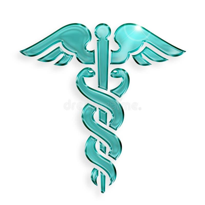 Ιατρικό σύμβολο κηρυκείων διανυσματική απεικόνιση
