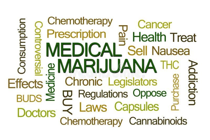Ιατρικό σύννεφο του Word μαριχουάνα διανυσματική απεικόνιση