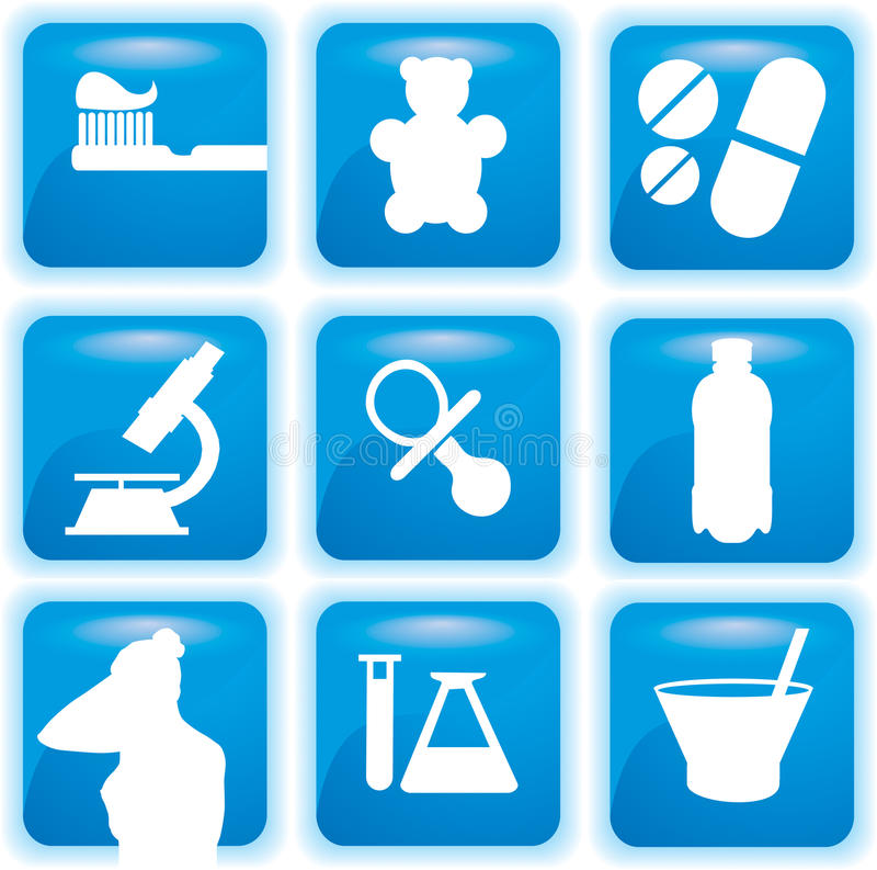 ιατρικό σύνολο εικονιδί&ome στοκ εικόνα με δικαίωμα ελεύθερης χρήσης