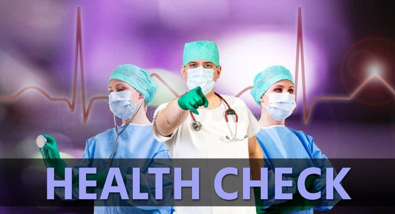 Ιατρικό υπόβαθρο ελέγχου Healt στοκ εικόνα