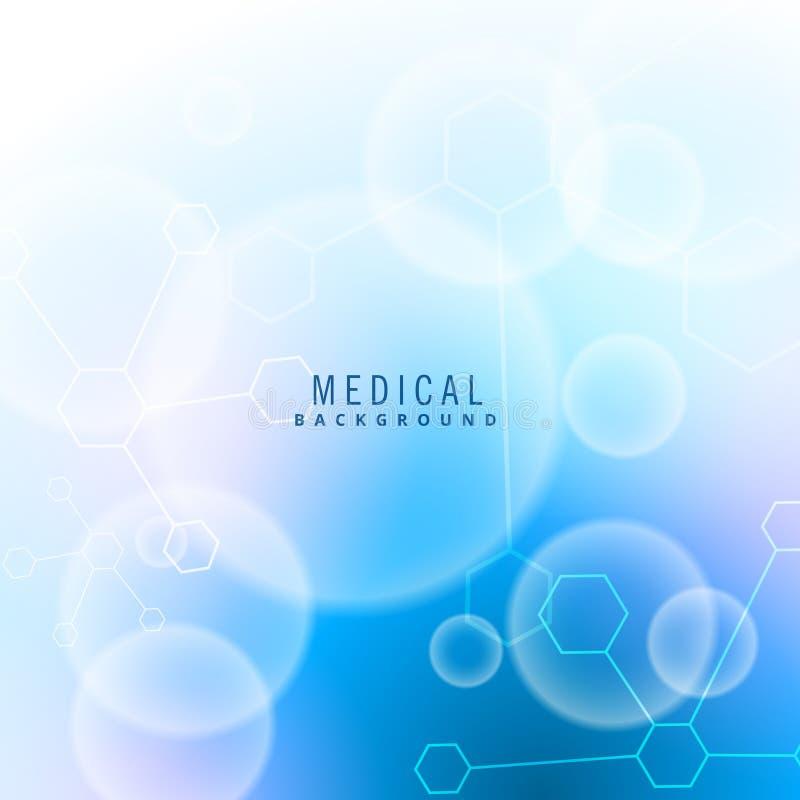 Ιατρικό υπόβαθρο μορίων και μορίων ελεύθερη απεικόνιση δικαιώματος