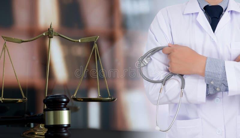 ιατρικό Bu υγειονομικής περίθαλψης συμμόρφωσης φαρμακείων νόμου δικαστών έννοιας νόμου στοκ εικόνες