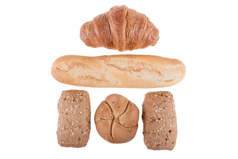 διαφορετικοί τύποι ψωμι&omic στοκ φωτογραφία