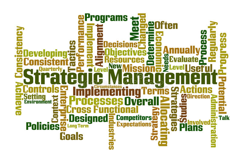 διαχείριση στρατηγική διανυσματική απεικόνιση