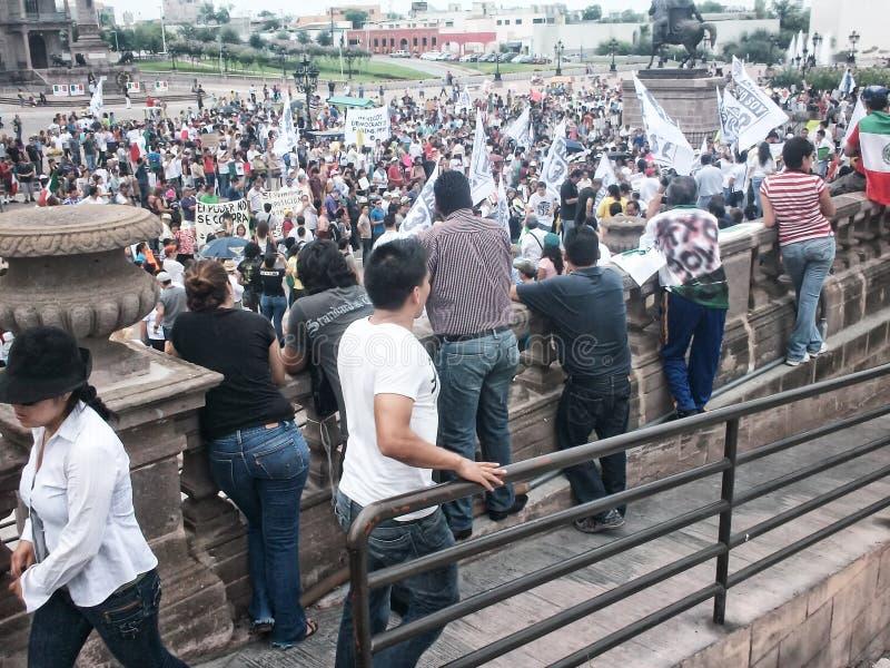 132 διαδήλωση διαμαρτυρίας στοκ φωτογραφία