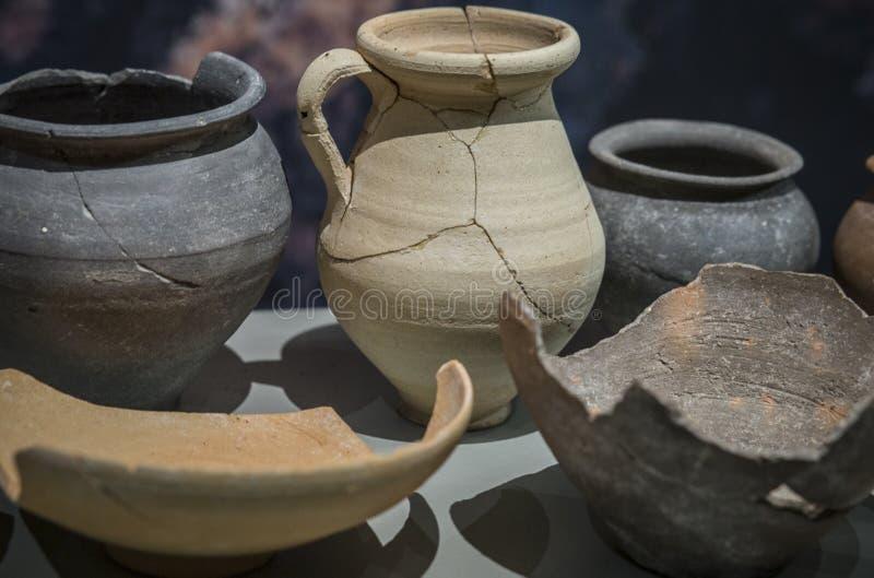 Ιβηρικά κομμάτια αργίλου στο ιβηρικό μουσείο του Jae'n στοκ εικόνες
