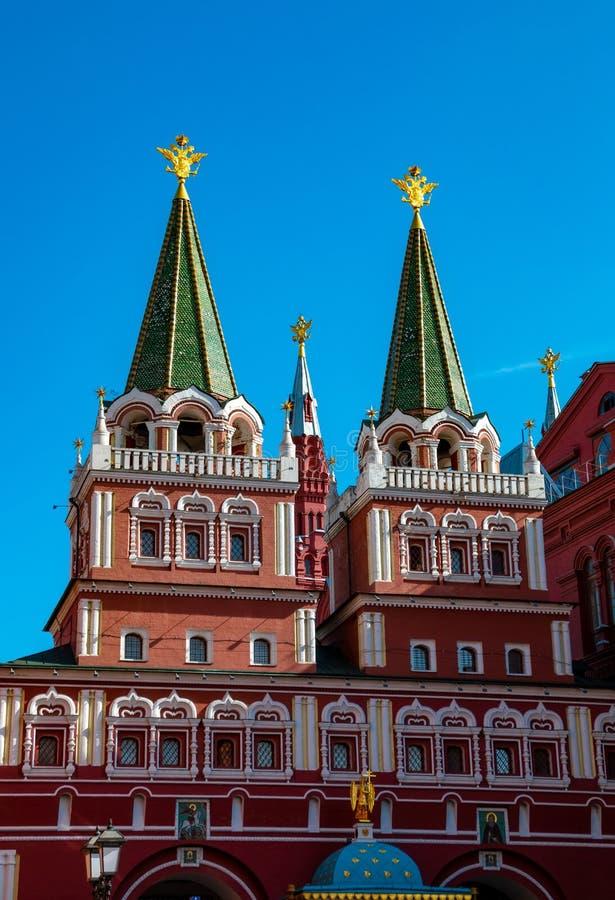 Ιβηρικά πύλη και παρεκκλησι κοντά στην κόκκινη πλατεία στη Μόσχα στοκ φωτογραφίες