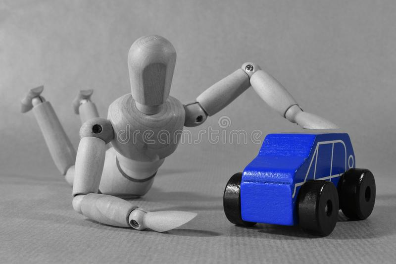 Ιδέα έννοιας διαφήμισης αυτοκινήτων σκέψης νέα Περίληψη στοκ φωτογραφία με δικαίωμα ελεύθερης χρήσης