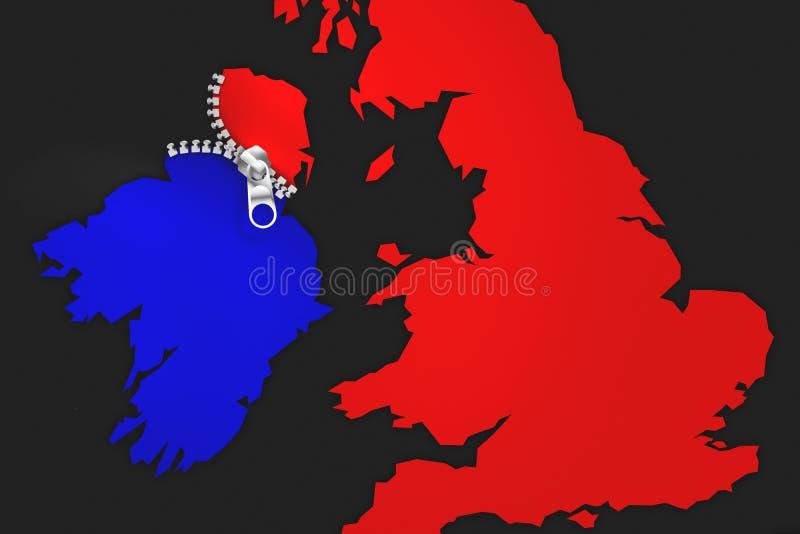 Ιδέα απεικόνισης για την Ιρλανδία που είναι ανατροπή Brexit ` u2019s απεικόνιση αποθεμάτων