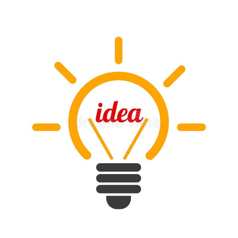 Ιδέα, δημιουργικός βολβός σημαδιών έννοιας - διάνυσμα διανυσματική απεικόνιση