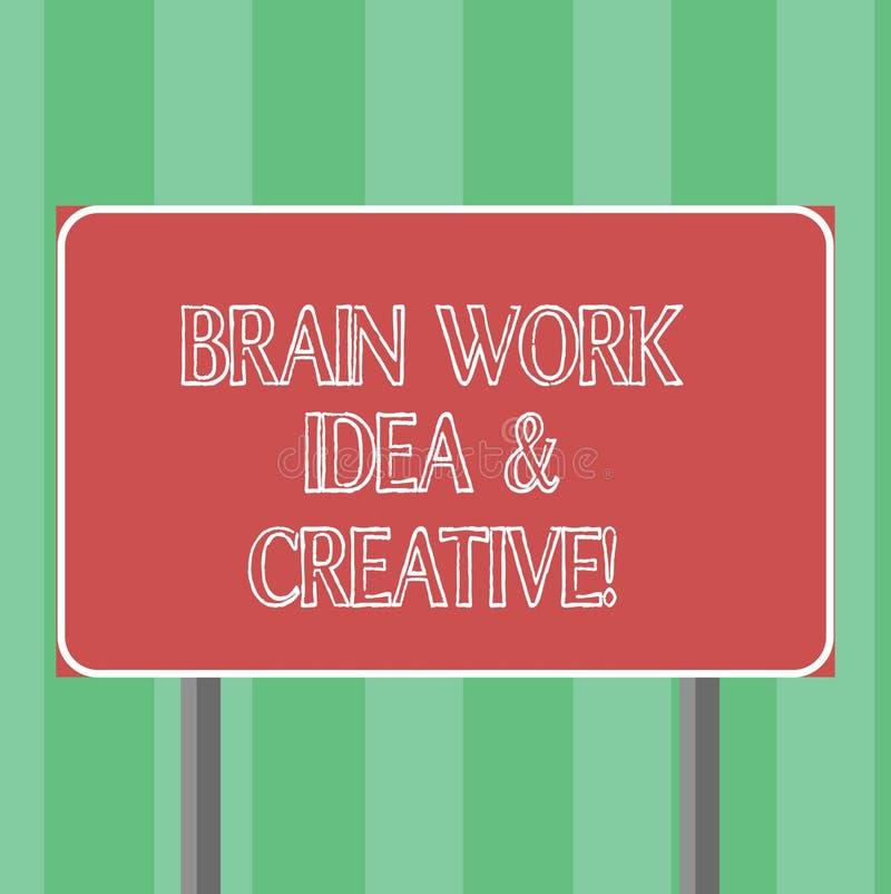 Ιδέα εργασίας εγκεφάλου κειμένων γραφής και δημιουργικός Έννοια που σημαίνει την καινοτόμο σκέψη καταιγισμού ιδεών δημιουργικότητ απεικόνιση αποθεμάτων