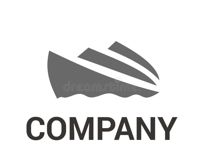 Ιδέα 4 λογότυπων σκαφών απεικόνιση αποθεμάτων