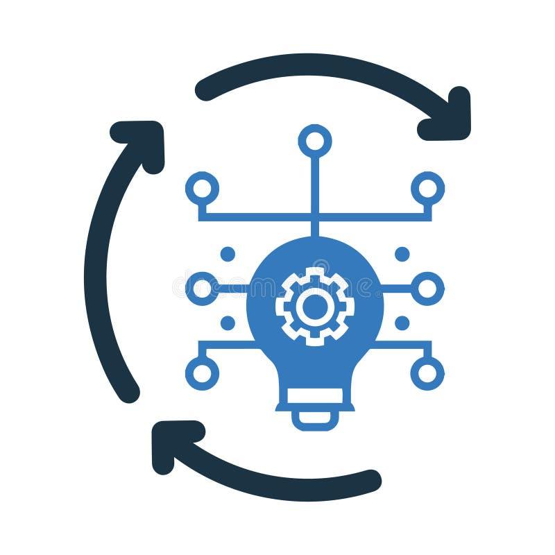 Ιδέα που παράγει το εικονίδιο, έξυπνο εικονίδιο ιδέας, γεννήτρια ιδέας απεικόνιση αποθεμάτων