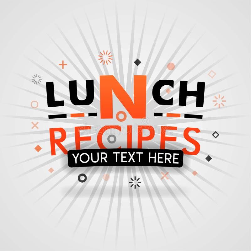 Ιδέα συνταγών μεσημεριανού γεύματος, με τη νόστιμη μπριζόλα χοιρινού κρέατος συνταγών τροφίμων και τις μαγειρεύοντας άκρες ελεύθερη απεικόνιση δικαιώματος