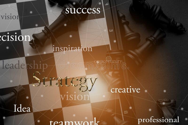 Ιδέα της έννοιας επιχειρησιακής στρατηγικής Έξυπνη επιχείρηση ιδέας σκέψης με το επιτραπέζιο παιχνίδι σκακιού 6 στοκ εικόνες