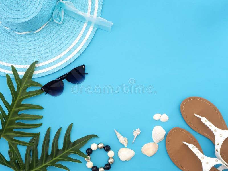 Ιδέες θερινού ταξιδιού και αντικείμενα παραλιών στοκ φωτογραφία