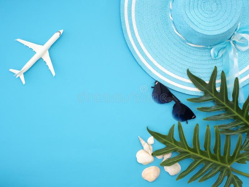Ιδέες θερινού ταξιδιού και αντικείμενα παραλιών στοκ εικόνες