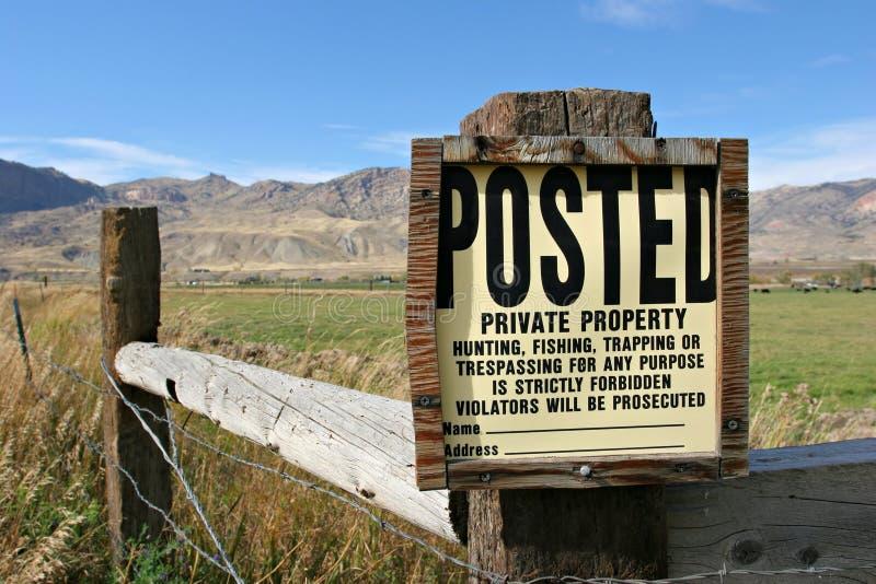 ιδιωτική ιδιοκτησία στοκ φωτογραφίες με δικαίωμα ελεύθερης χρήσης