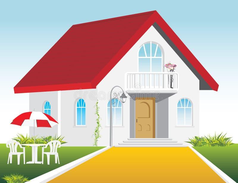ιδιωτική κατοικία μοντέρν&e ελεύθερη απεικόνιση δικαιώματος