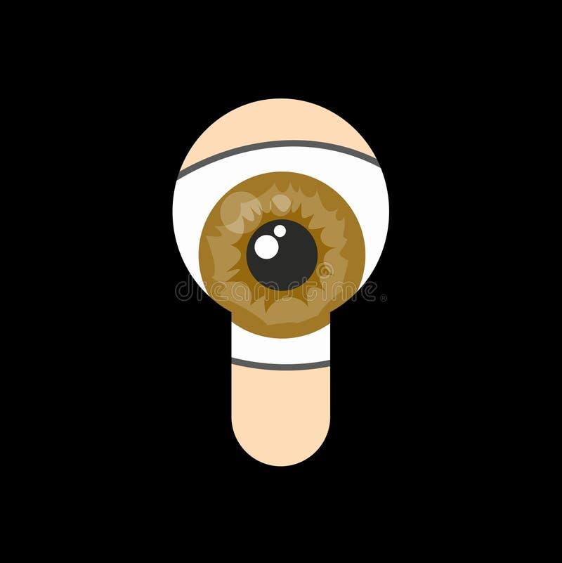 ιδιωτικός κατάσκοπος ματιών διανυσματική απεικόνιση