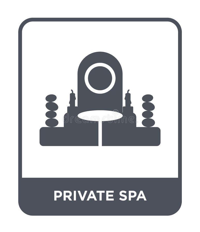 ιδιωτικό εικονίδιο SPA στο καθιερώνον τη μόδα ύφος σχεδίου ιδιωτικό εικονίδιο SPA που απομονώνεται στο άσπρο υπόβαθρο ιδιωτικό δι διανυσματική απεικόνιση