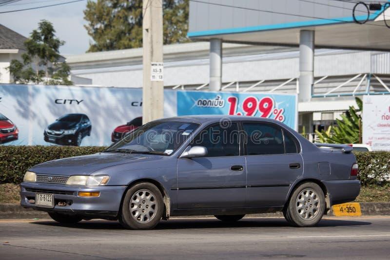 Ιδιωτικό παλαιό αυτοκίνητο, Toyota Corolla στοκ εικόνα με δικαίωμα ελεύθερης χρήσης