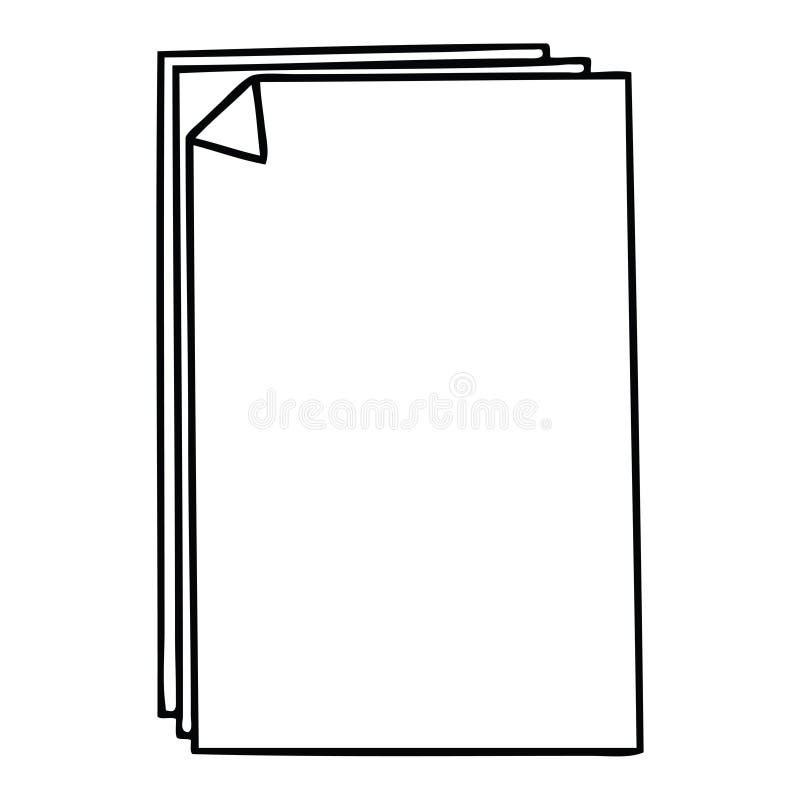 ιδιόμορφος σωρός εγγράφου κινούμενων σχεδίων σχεδίων γραμμών απεικόνιση αποθεμάτων