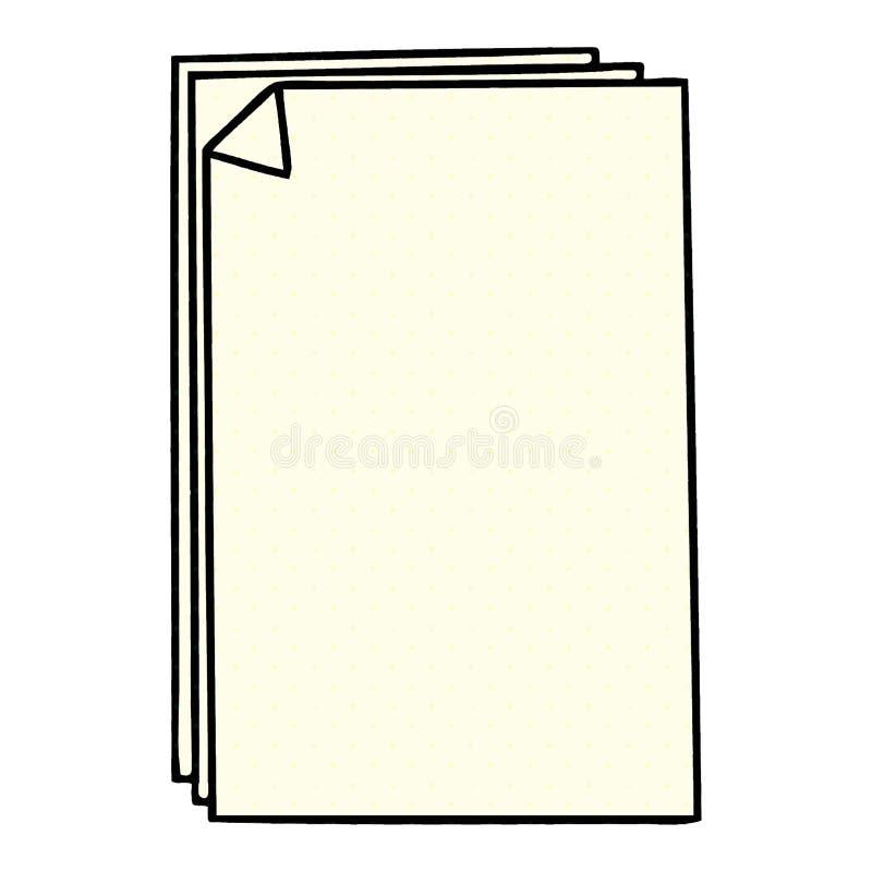 ιδιόμορφος σωρός εγγράφου κινούμενων σχεδίων ύφους κόμικς διανυσματική απεικόνιση