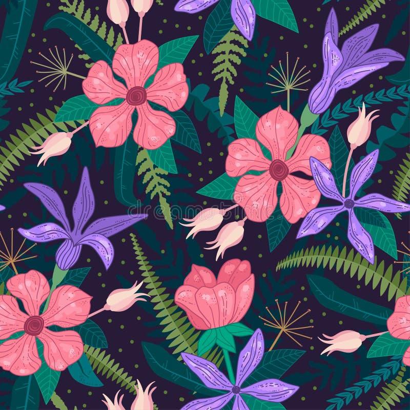 Ιδιότροπο σχέδιο επανάληψης όλες οι οποιεσδήποτε σύνθεσης στοιχείων floral συστάσεις μεγέθους κλίμακας αντικειμένων απεικόνισης μ απεικόνιση αποθεμάτων