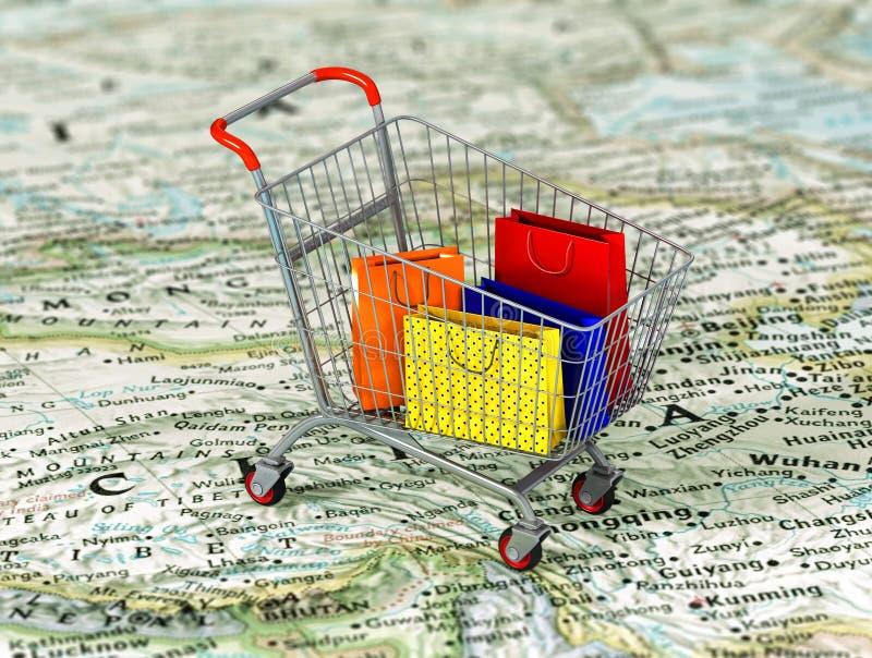 διεθνείς αγορές διανυσματική απεικόνιση