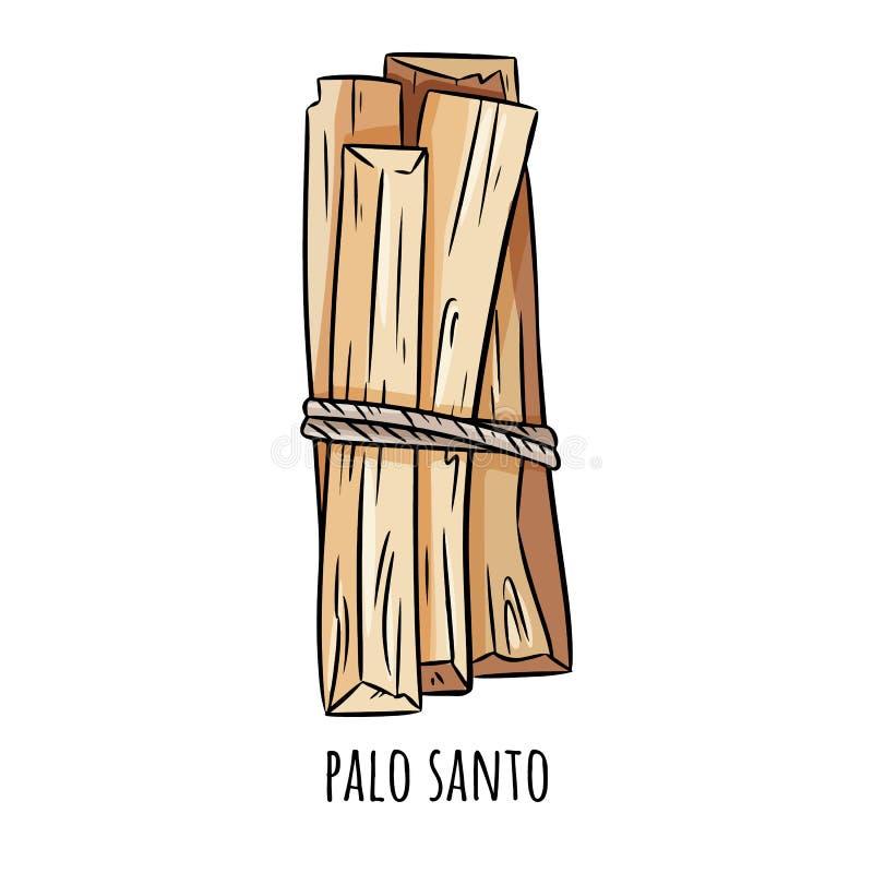 Ιερά ξύλινα ραβδιά αρώματος δέντρων Santo Palo από τη Λατινική Αμερική Smudge καίγοντας δέσμη θυμιάματος ελεύθερη απεικόνιση δικαιώματος