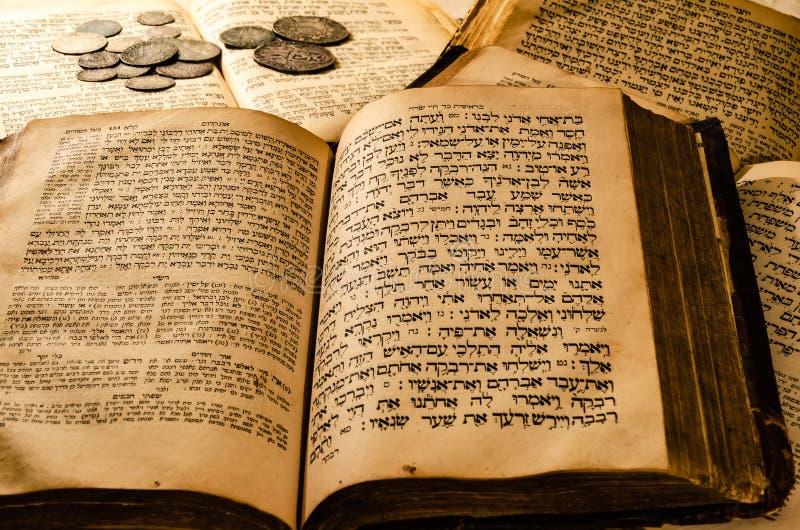 Ιερά παλαιά εβραϊκά βιβλία στοκ εικόνες με δικαίωμα ελεύθερης χρήσης