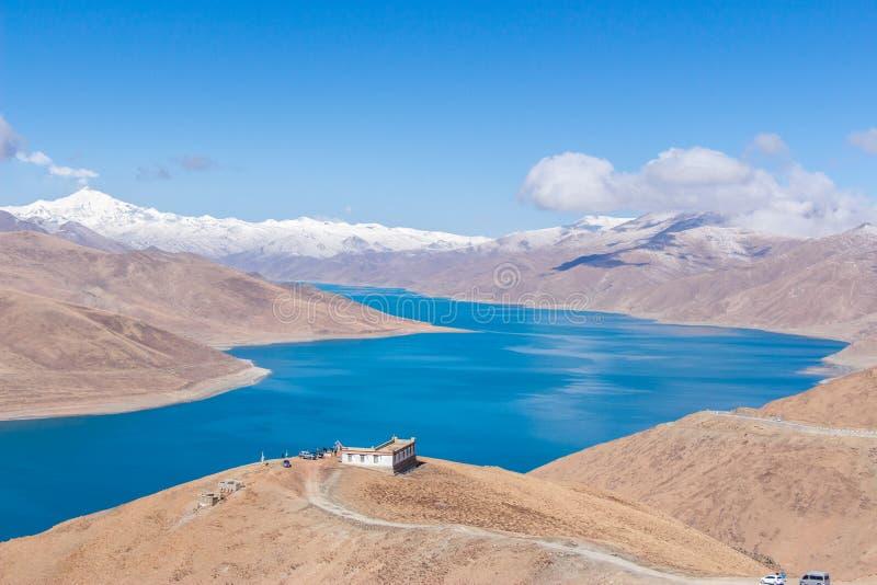Ιερή λίμνη του Θιβέτ στοκ φωτογραφίες με δικαίωμα ελεύθερης χρήσης