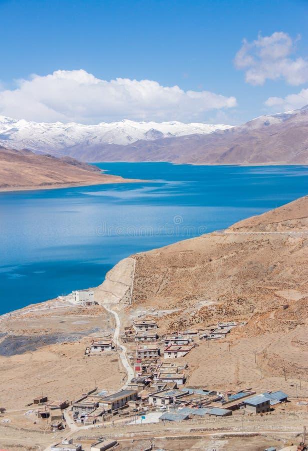 Ιερή λίμνη του Θιβέτ στοκ φωτογραφία με δικαίωμα ελεύθερης χρήσης
